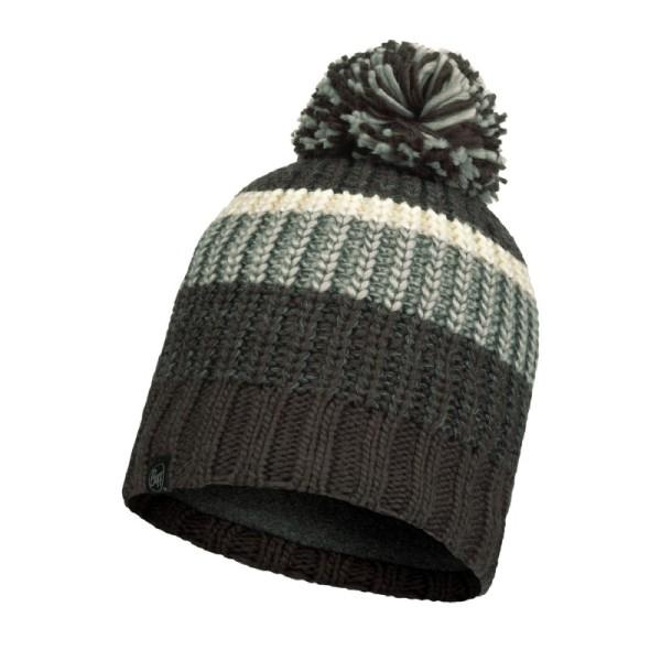 Buff Knitted & Fleece Hat Stig Grey