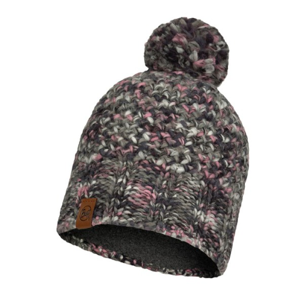 Buff Knitted & fleece Hat Margo Castlerock Grey