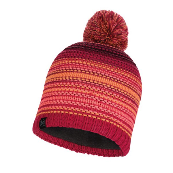 Buff Knitted & Polar Hat Neper Maroon